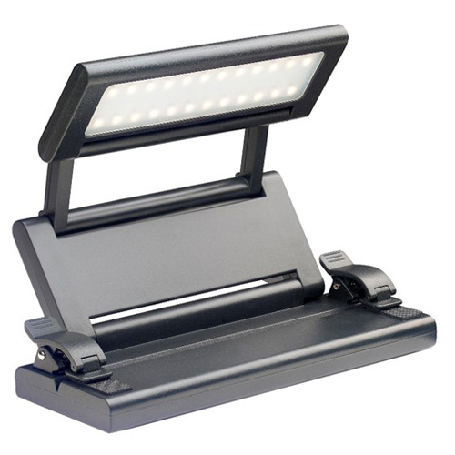 LED lampička Stagg Skládací - barva černá