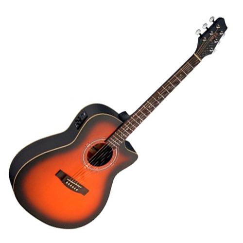 Elektro-akustická kytara Stagg levoruká