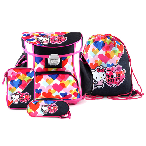 Školní set Target Hello Kitty, barevná srdce, barva modrá