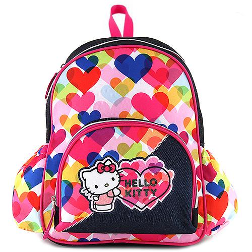 Batůžek Target Hello Kitty, barevná srdce