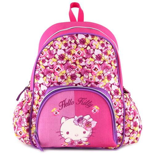 Batůžek Target Hello Kitty, květy, růžový