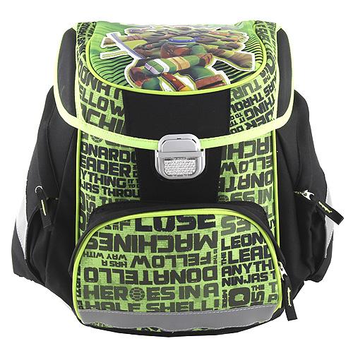 Školní aktovka Target Želvy Ninja, zeleno-černá
