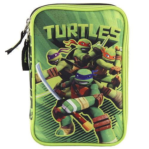 Školní penál s náplní Target Ninja želvy, barva zelená