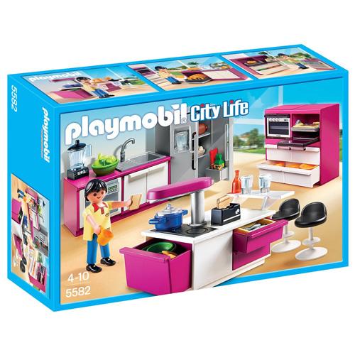 Stylová kuchyně Playmobil panáček s doplňky, 101 dílků