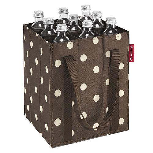 Taška na láhve Reisenthel Hnědá s bílými puntíky, Bottlebag