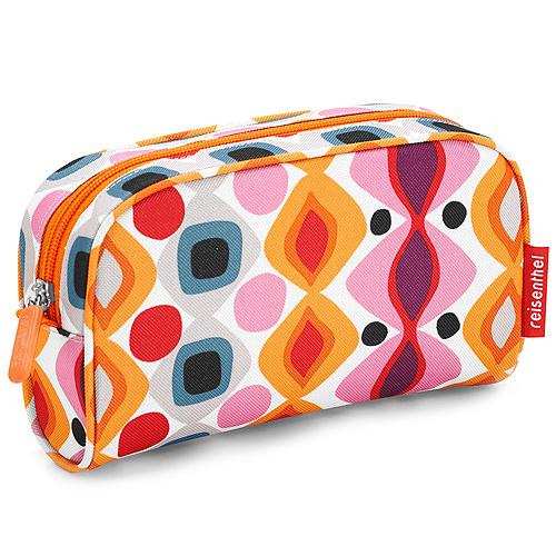 Kosmetická taška Reisenthel Oranžová s retro ornamenty | makeupcase retro