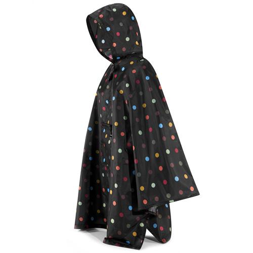 Pončo pláštěnka Reisenthel Černá s barevnými puntíky | mini maxi poncho dots