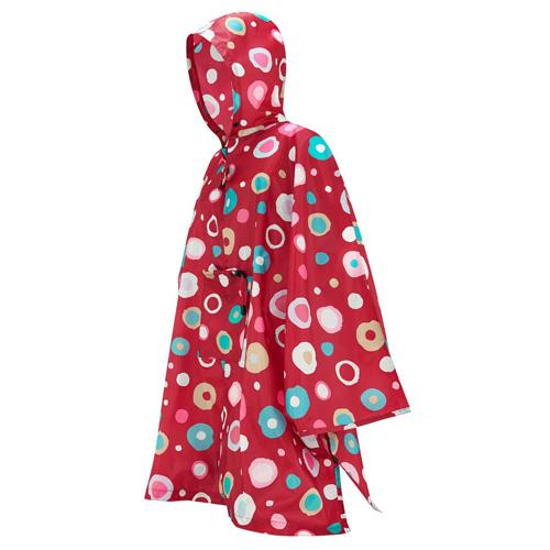 Pončo pláštěnka Reisenthel mini maxi | Červená s barevnými puntíky