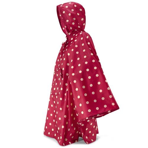 Pončo pláštěnka Reisenthel Červená s puntíky | mini maxi poncho ruby dots