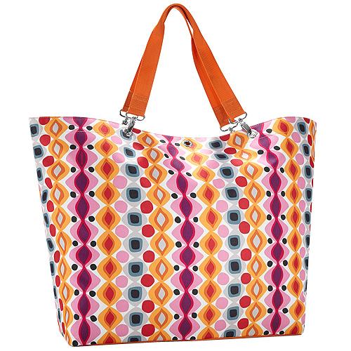 Nákupní taška Reisenthel Oranžová s retro ornamenty | shopper XL retro