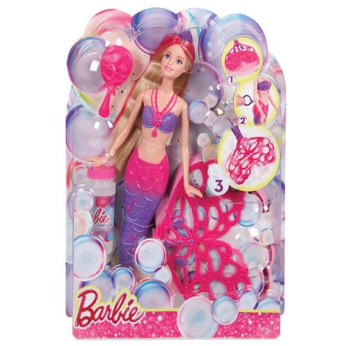 Bublinková Barbie Mattel Mořská panna s bublifukem