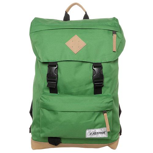 Cestovní batoh Eastpak Zelený s koženou základnou
