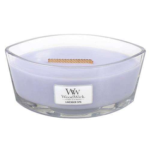 Svíčka dekorativní váza WoodWick Levandulová lázeň, 453.6 g