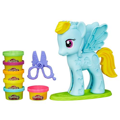 Set Play-Doh Hasbro Rainbow Dash, 168 g