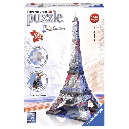 3D Puzzle Ravensburger Eiffelova věž, 216 dílků Vlajková edice