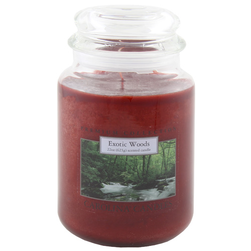 Svíčka skleněná dóza Carolina Candles Exotické dřevo, 623 g