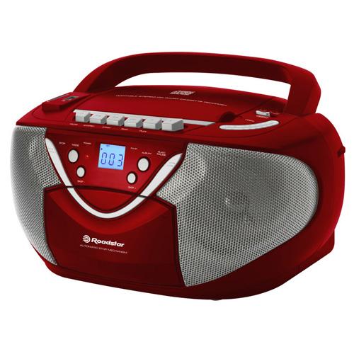 Radiomagnetofon Roadstar RCR-4650 USMP, červený