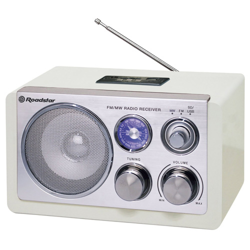 Retro rádio Roadstar HRA-1325US, 1.2 W RMS