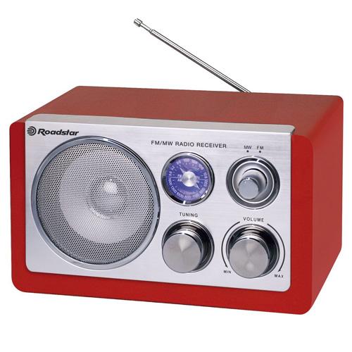 Retro rádio Roadstar HRA-1200W/RD, 1,2 W RMS