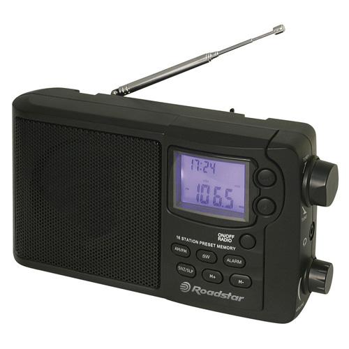 Přenosné rádio Roadstar TRA-2425 PS/W, LCD displej