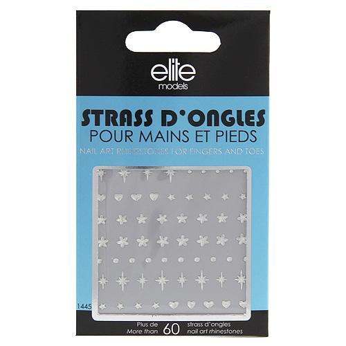 Kamínky na nehty Elite Models 60ks/různé tvary