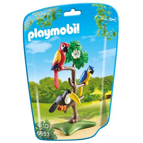 Papoušci a tukan Playmobil Zoo