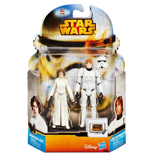 Figurky Star Wars Hasbro Luke Skywalker a Princess Leia/2 ks