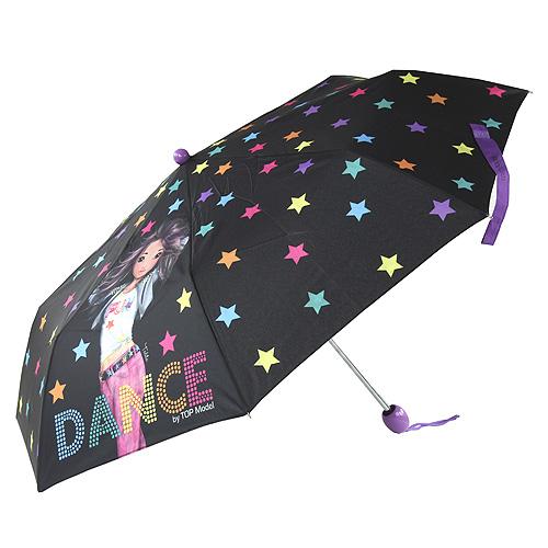 Deštník Top Model Modelka Talita/černý s hvězdami