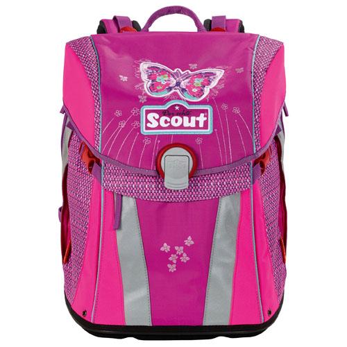 Školní batoh Scout Sunny, motiv nachový motýl