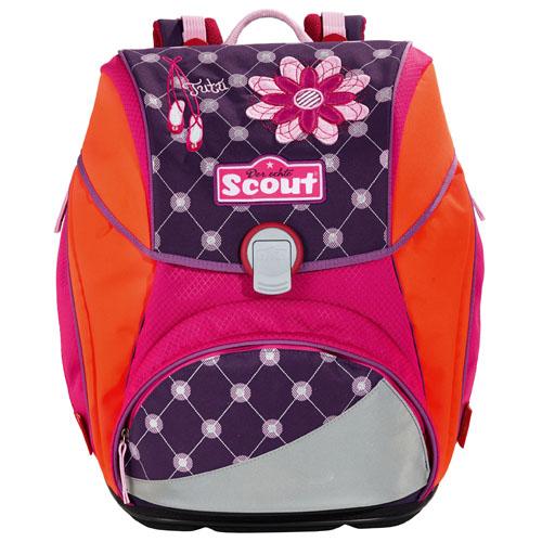 Školní batoh Scout baleríny a květina