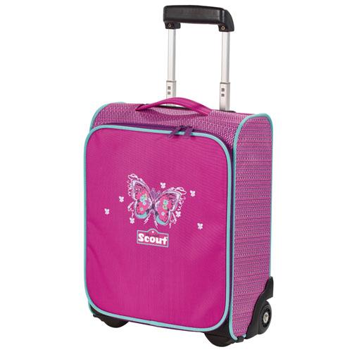 Kufřík na kolečkách Scout Motýlek