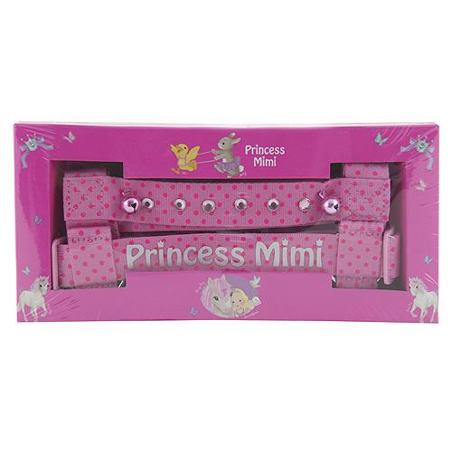 Miss Melody Dětský postroj Princess Mimi Růžový s puntíky a kamínky