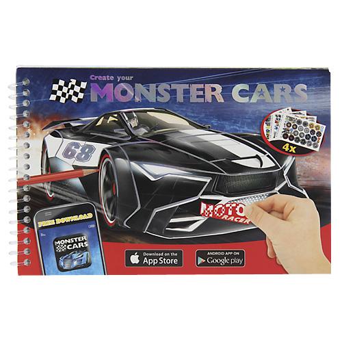Omalovánky Monster Cars Moto Racer - 19,5 x 12,5 cm