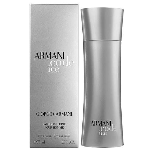 Toaletní voda pro muže s rozprašovačem Giorgio Armani Armani Code Ice, 75 ml