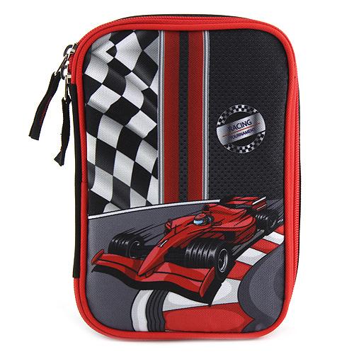 Školní penál s náplní Target Formule, černo-červená