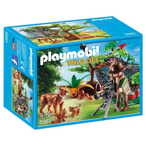 Rysí rodina s filmařem Playmobil panáček s doplňky, 40 dílků