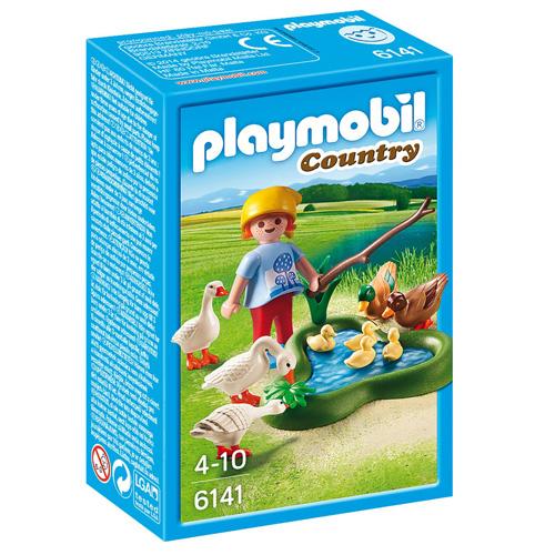 Kachny a husy u rybníka Playmobil panáček s doplňky, 17 dílků