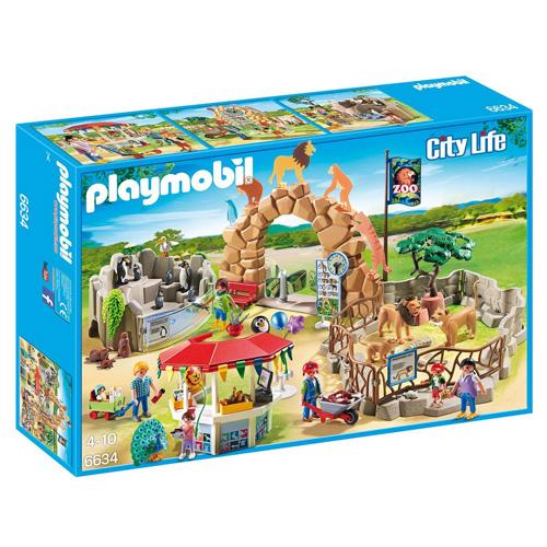 Velká Zoo Playmobil 7 panáčků se zvířaty, 175 dílků