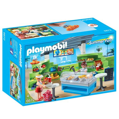 Obchod s občerstvením Playmobil vybavení obchodu a 2 panáčci s doplňky, 103 dílků