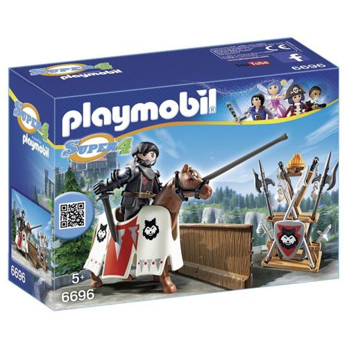 Rypen, strážce Černého barona Playmobil kůň a panáček s doplňky, 24 dílků