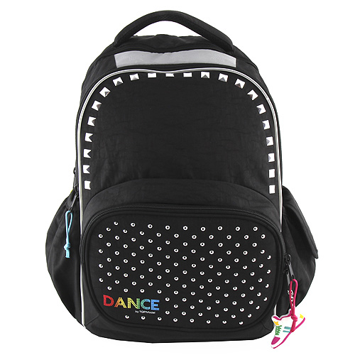 Školní batoh Top Model Černý se cvočky a pyramidami