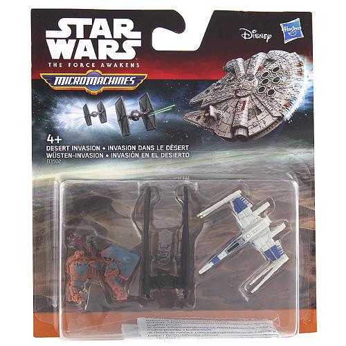 Set Star Wars Hasbro Akční vozidla - invaze do pouště 3 ks