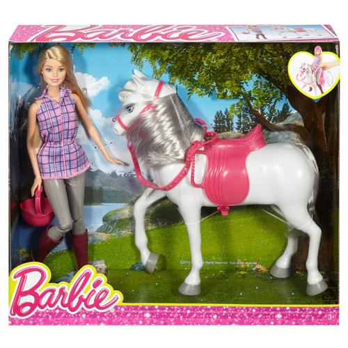 Barbie s koněm Mattel Jezdkyně