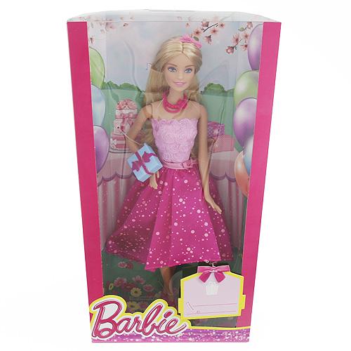 Barbie narozeninová Mattel S dárečkem