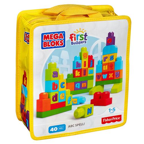 Mattel Kostky Mega Bloks 40 ks - stavební kostky s písmeny