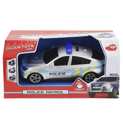Policejní auto Dickie Audi Q7B s CZ zvukem, 20 cm