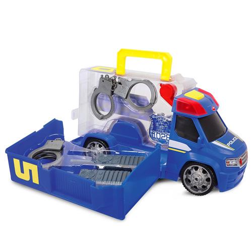 Policejní auto Dickie 33 cm s doplňky, barva modrá