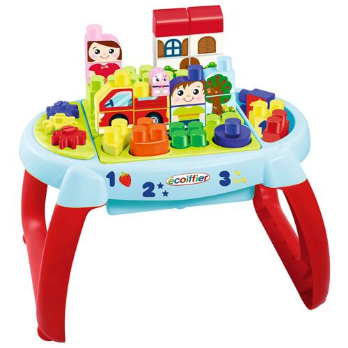 Hrací stůl Écoiffier Červený - se stavebnicí