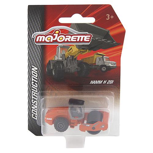 Parní válec Majorette Oranžové - kovové auto 7,5 cm