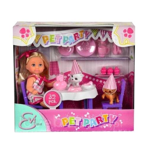 Panenka Evička Simba Na párty - se zvířátky